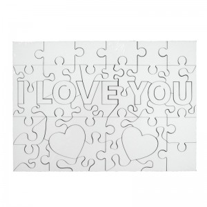 Puzzle lemn I Love You 18x25 cm