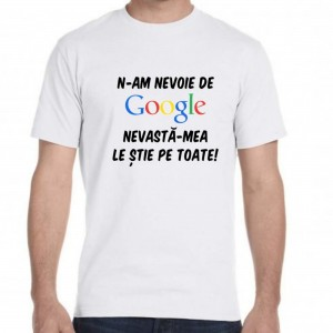 Tricou Alb ''Fruit of the Loom'' Google