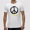 Tricou Alb ''Fruit of the Loom'' Peace