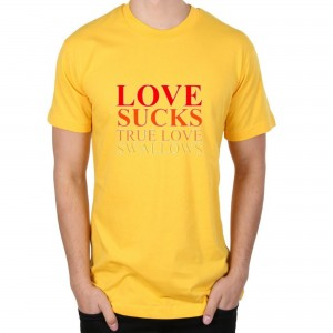 Tricou Galben ''Fruit of the Loom'' Love Swallows