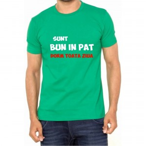 Tricou Verde ''Fruit of the Loom'' Sunt bun in pat