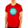 Tricou Rosu ''Fruit of the Loom'' personalizat