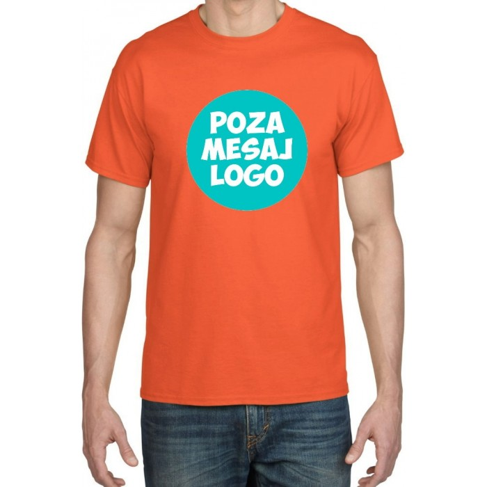 Tricou Portocaliu ''Fruit of the Loom'' personalizat