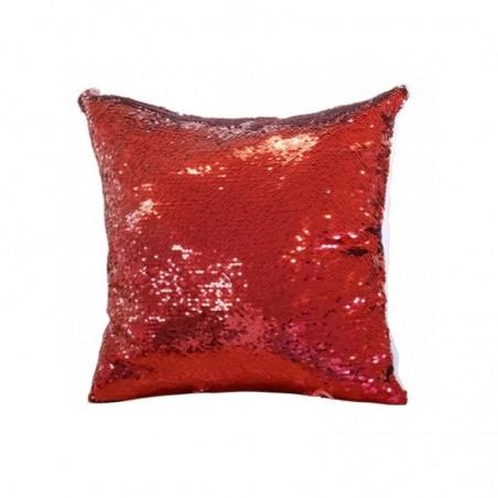 Perna patrata cu paiete reversibile rosii personalizata