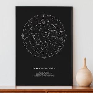 Tablou personalizat cu harta stelelor