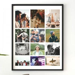 Tablou personalizat cu 12 poze