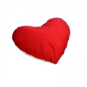 Perna inima alb-rosu personalizata