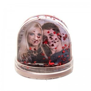 Glob foto patrat cu inimioare